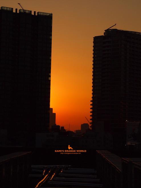 0473ビルの屋上から見たオレンジの夕焼け.jpg