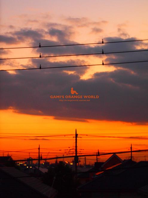 ロフトからの越谷の夕焼け.jpg